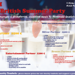 Sponsorship opportunity: 2019 AGM and the British Summer Party